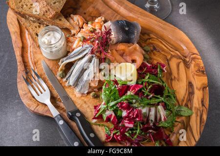 La nourriture traditionnelle et Pub Grub Banque D'Images