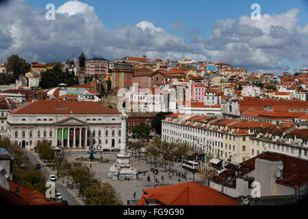 Géographie / voyage, Portugal, Lisbonne Rossio, Additional-Rights Clearance-Info,--Not-Available Banque D'Images