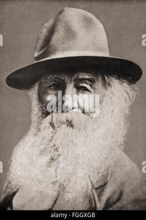 Walt Whitman 'Walter', 1819 - 1892. Poète, essayiste et journaliste. Banque D'Images