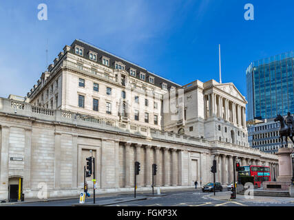 La Banque d'Angleterre, Threadneedle Street, City of London, Londres, Angleterre, RU Banque D'Images