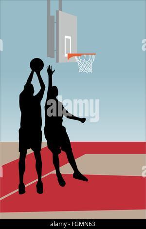Les joueurs de basket-ball Banque D'Images