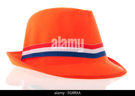 Dutch chapeau orange pour supporter de football kings day Banque D'Images