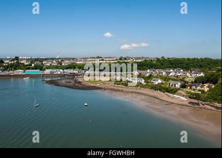 Milford Haven Waterway, Pembrokeshire, pays de Galles Banque D'Images