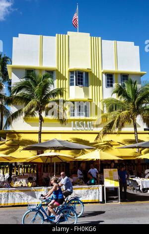 Floride, Sud, FL, Miami Beach, quartier art déco, Ocean Drive, jour de l'an, hôtels hôtels hôtels hôtels motels Inn, hébergement, hôtels, Leslie, resta