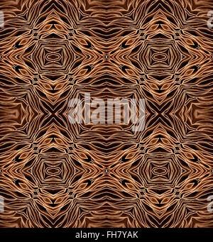 Motif répété de la face inférieure du champignon grand champ montrant branchies - abstract pattern Banque D'Images