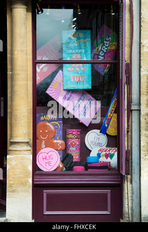 Sweet Shop vitrine. Oxford, Angleterre Banque D'Images