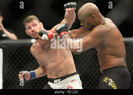 Londres, Royaume-Uni. Feb 27, 2016. L'UFC Fight Night Bisping vs Silva à l'O2, London Crédit: Dan Cooke/Alamy Live News