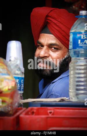 Homme Sikh Punjabi à Delhi , Inde Banque D'Images