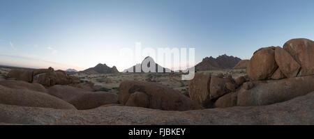 Spitzkoppe, la Namibie. Banque D'Images
