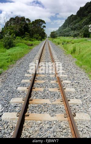 Des voies de chemin de fer, l'île du Sud, Nouvelle-Zélande Banque D'Images