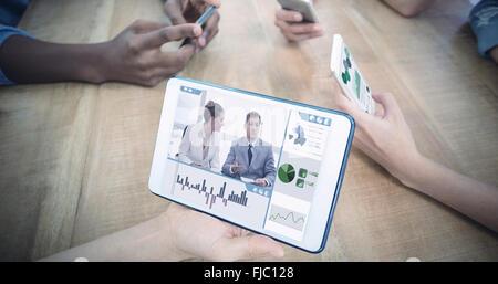 Image composite de l'interface d'affaires Banque D'Images