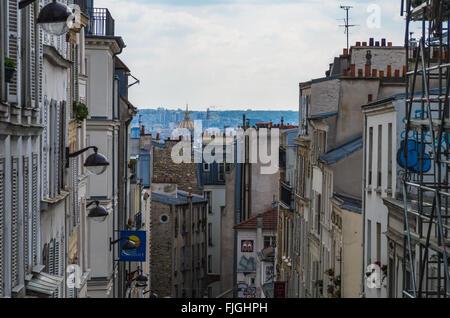 Paris France le 21 avril 2014, le quartier de Montmartre à Paris est un espace de divertissement historique de Paris Banque D'Images
