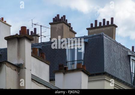 Paris France le 21 avril 2014, détails sur les bâtiments historiques et les routes autour de Paris Banque D'Images