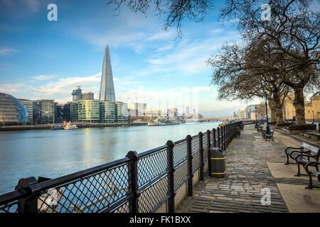 La ville de Londres depuis la Tamise Banque D'Images