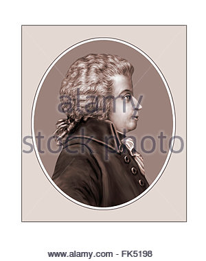 Wolfgang Amadeus Mozart, compositeur, Portrait Banque D'Images