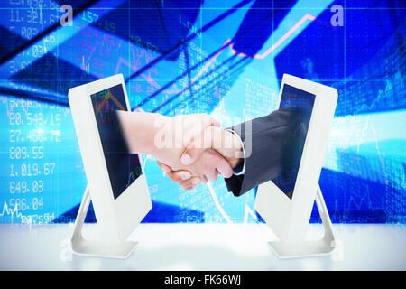 Composite image lors d'une poignée