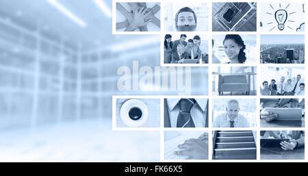 Image composite de businessman peeking nerveux plus de 24 Banque D'Images
