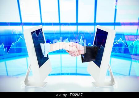 Composite image d'une entreprise personnes la conclusion d'une affaire