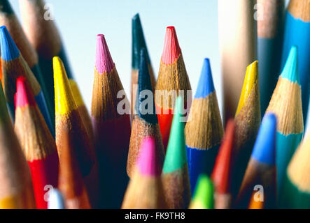 Close-up of colorful crayons dessin Banque D'Images