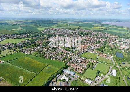 Une vue aérienne de la ville de Lincolnshire Barton upon Humber