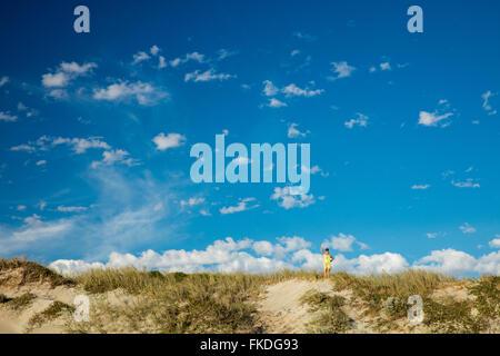 Wendy sur la plage de Port Gregory, l'ouest de l'Australie Banque D'Images