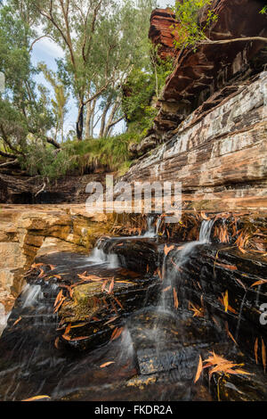 Gorge Kalamina, parc national de Karijini, Pilbarra, Australie occidentale Banque D'Images