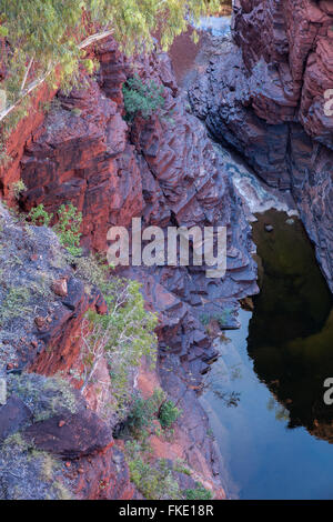Joffre Gorge, parc national de Karijini, Pilbarra, Australie occidentale Banque D'Images
