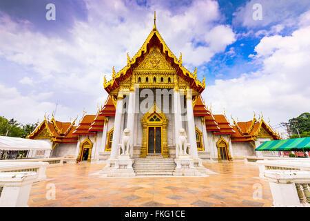 Bangkok, Thaïlande au Temple de marbre. Banque D'Images