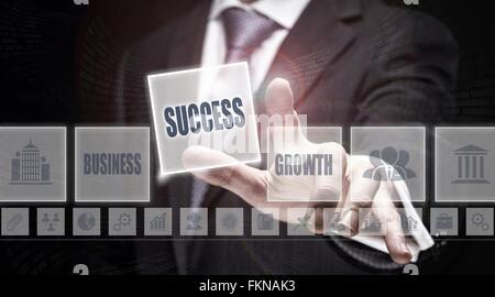 L'appui sur un concept d'affaires de succès. Banque D'Images