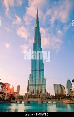 Emirats Arabes Unis, Dubaï, Burj Khalifa Banque D'Images