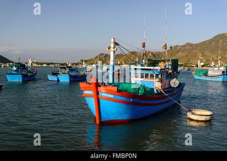 Vietnam, Ninh Thuan province, Phan Rang, le port de pêche Banque D'Images
