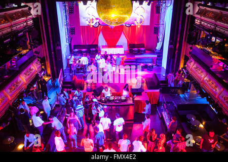 Joy Eslava discothèque, Calle del Arenal 11. Madrid, Espagne Banque D'Images