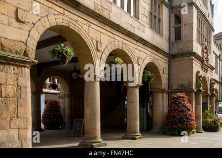 L'ancien marché couvert, construit en 1596, le Square, Shrewsbury, Shropshire, England, UK Banque D'Images