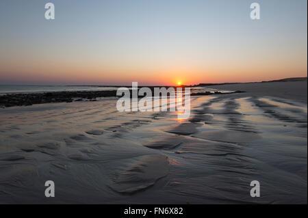 Le lever du soleil, Cape Leveque, péninsule Dampier, région de Kimberley en Australie occidentale, WA, Australie Banque D'Images
