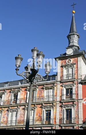 Plaza Mayor construite dans la célèbre Place 1617 Cityscape Madrid Espagne.Casa de la Panaderia, Plaza Mayor Banque D'Images