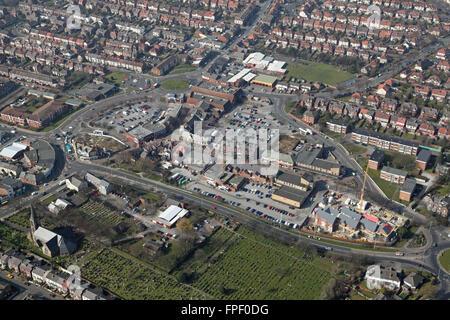 Vue aérienne de Crosby, Liverpool, Royaume-Uni Banque D'Images