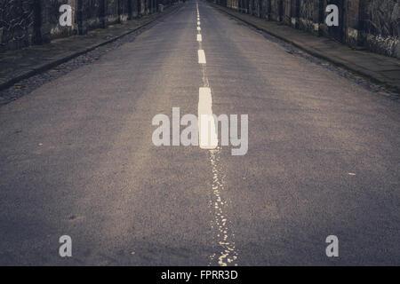 Style vintage road, rue vide lane Banque D'Images