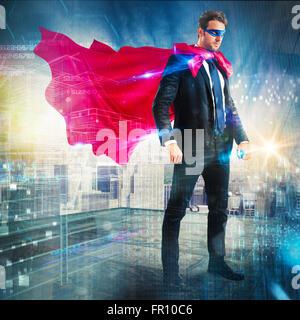 Super-héros urbain Banque D'Images
