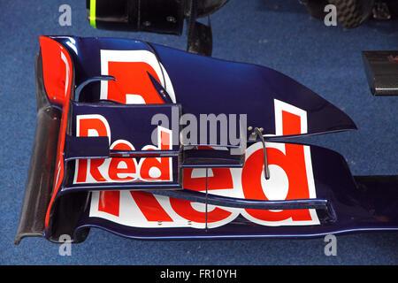 Kiev, UKRAINE - le 19 mai 2012: Détails des Red Bull RB7 Red Bull Racing car pendant la Parade des Champions sur Banque D'Images