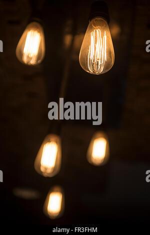 Jeu de 5 ampoules Vintage Banque D'Images
