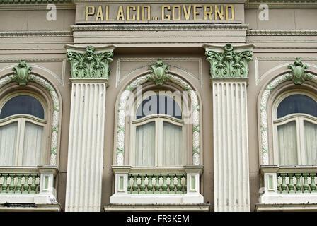 Détail de la façade du palais du gouvernement - Palacio Campo das Princesas à Recife - PE