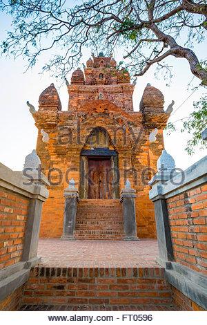 Ruines du temple m'Ro po, 17e tour Cham centrury, District de Ninh Phuoc Ninh Thuan, Province, Vietnam Banque D'Images