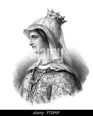 Ingoberga, ch. 520-589, la première épouse du roi Franc François I, ou Cherebert, ch. Ingoberga, 517-567, 520-589, um die ers