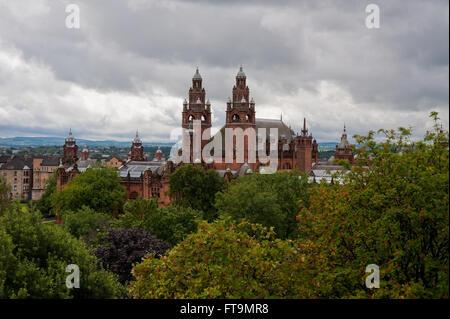 Voir à l'Université de Glasgow Banque D'Images