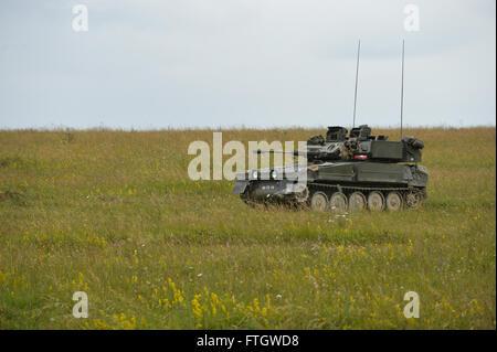 Scimitar véhicule blindé de combat dans la plaine de Salisbury au cours de l'exercice Lion grève.