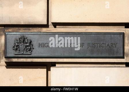 Édimbourg, Écosse - 10 mars 2016: La Haute Cour de justicier dans la ville d'Édimbourg, le 10 mars 2016. Il est Banque D'Images