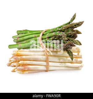 Les asperges vert blanc Banque D'Images