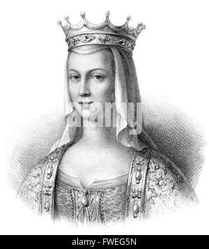 Anne de Kiev, née Anna Yaroslavna, également appelé Agnes; c. 1030-1075, le ruthène reine consort d'Henri I de Banque D'Images