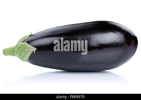 Aubergine aubergine isolé sur fond blanc Banque D'Images
