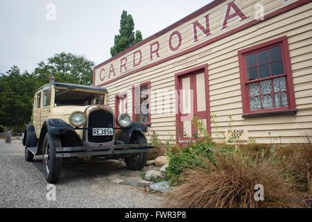 WANAKA, Nouvelle-zélande - JAN 7, 2016: Hôtel Cardrona historique construit en 1863 près de la ville de Wanaka. Banque D'Images
